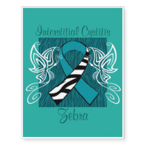 """Interstitial Cystitis Zebra"" Tattoo"