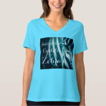 """Interstitial Cystitis Zebra"" Tee - Teal"