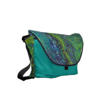 """Intertidal Zone"" Abstract Rickshaw Messenger Bag"
