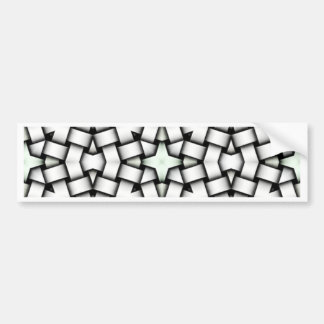Intertwined abstract background bumper sticker