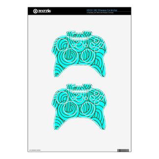 Intertwined aqua C Xbox 360 Controller Skins