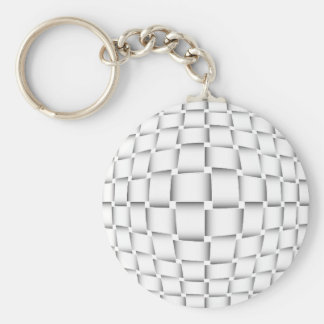 intertwined bands keychain