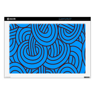 """Intertwined blue C Decals For 17"""" Laptops"""