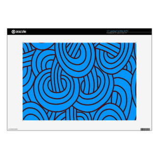 Intertwined blue C Skin For Laptop