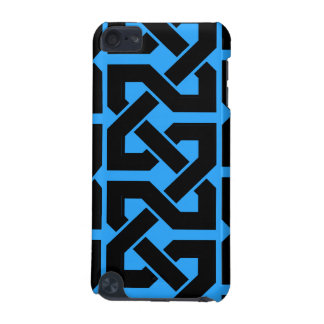Intertwined - Bright Blue & Black iPod Touch (5th Generation) Cases