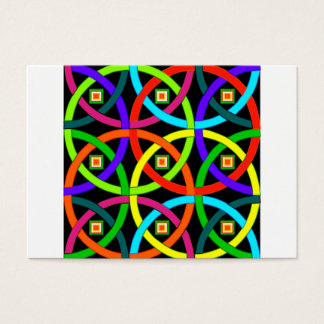Intertwined circles of color business card