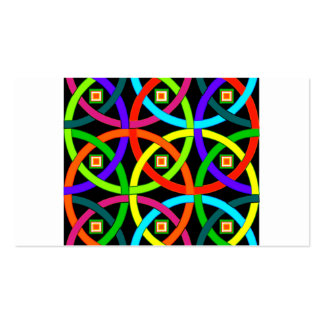 Intertwined circles of color business card templates