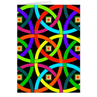 Intertwined circles of color card