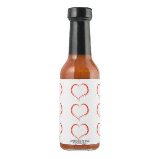 intertwined hearts heart romantic love couple hot pepper sauce