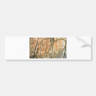 Intertwined hearts love rope  heart wood wooden bumper sticker