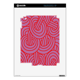 Intertwined red C Decals For iPad 2