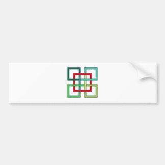 intertwined squares interwoven squares bumper sticker
