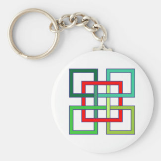 intertwined squares interwoven squares keychain