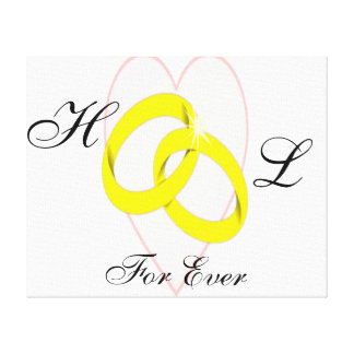 Intertwined Wedding Rings Canvas Print