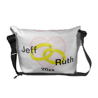 Intertwined Wedding Rings Courier Bag