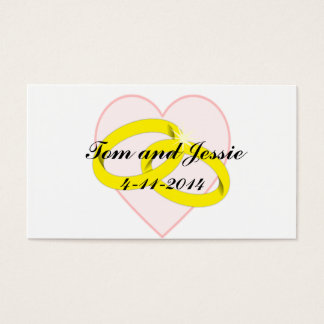 Intertwined Wedding Rings & Heart Thank You Card