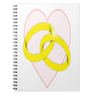 Intertwined Wedding Rings Notebook