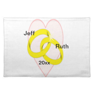 Intertwined Wedding Rings Placemat