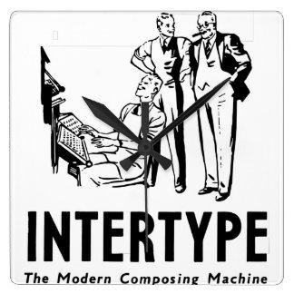 Intertype Clock