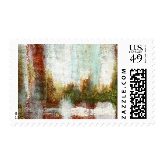 Interval Postage Stamp From Original Painting