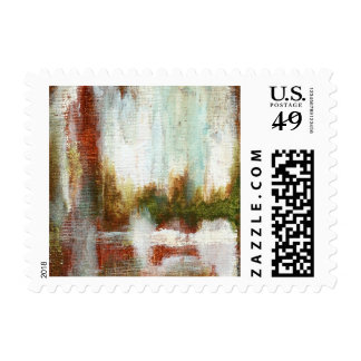 Interval Small Postage Stamp From Painting