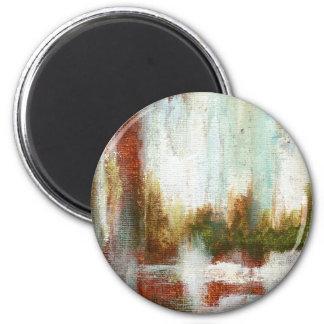 Intervalo de la pintura original imán redondo 5 cm