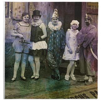 Intervalo en el circo servilletas de papel