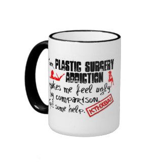 Intervención del apego de la cirugía plástica taza de dos colores