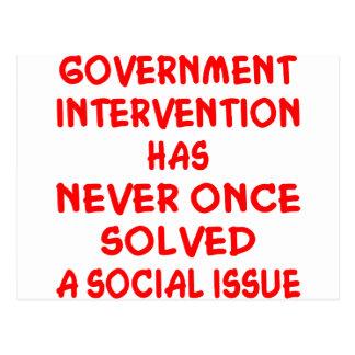 Intervención del Gobierno Postales