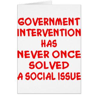 Intervención del Gobierno Tarjeta De Felicitación