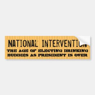 Intervención nacional pegatina para auto