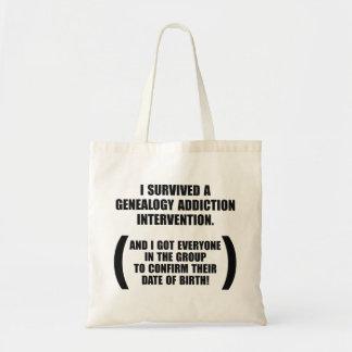 Intervención sobrevivida del apego de la bolsas lienzo