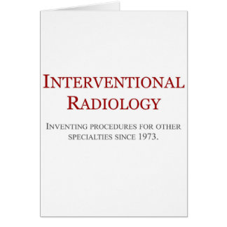 Interventional Radiology Card
