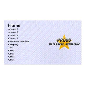 Interventor interno orgulloso tarjeta de visita