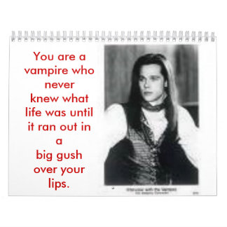 interview with a vampire calendar