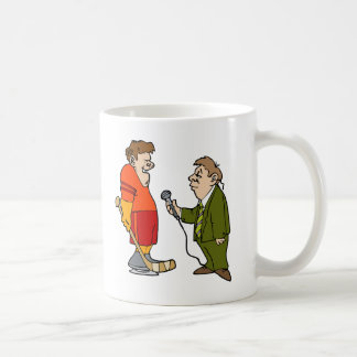 Interview with player coffee mug