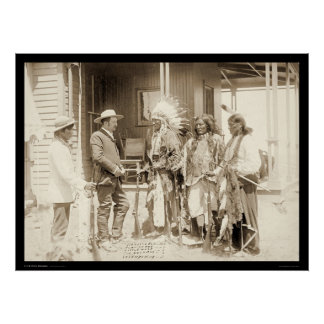 Interviewing Three Cheyenne Indians SD 1887 Posters