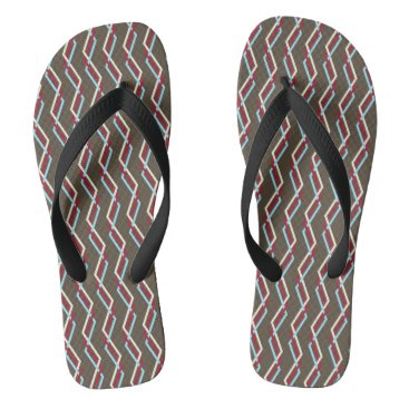 Beach Themed Interweaving Chevron 1 Flip Flops