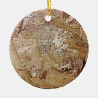 Interweaving particle board ceramic ornament