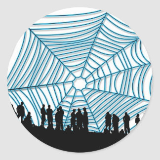 Interweb of Deceit Classic Round Sticker
