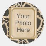 Interwebs de oro etiquetas redondas