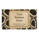Interwebs de oro tarjetas de negocios