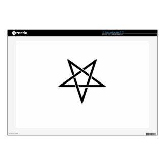 "Interwoven Inverted Black Pentagram Flag Skin For 17"" Laptop"