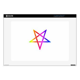 Interwoven Inverted Rainbow Pentagram Flag Laptop Decal