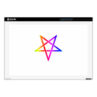 """Interwoven Inverted Rainbow Pentagram Flag Skin For 17"""" Laptop"""