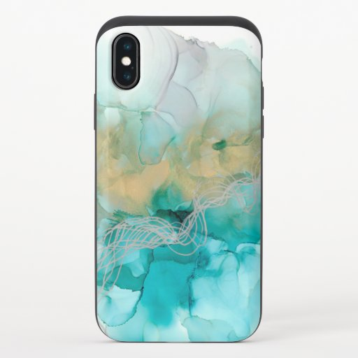Interwoven Metallics iPhone X Slider Case