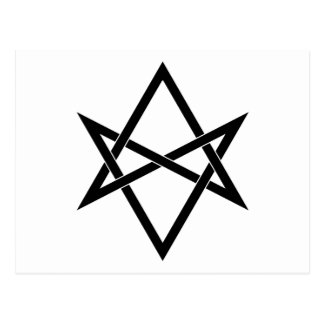 Interwoven unicursal hexagram postcard