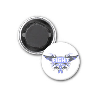 Intestinal Cancer Fight Like a Girl Wings.png 1 Inch Round Magnet