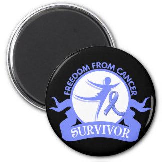 Intestinal Cancer - Freedom From Cancer Survivor 2 Inch Round Magnet