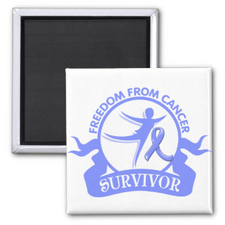 Intestinal Cancer - Freedom From Cancer Survivor 2 Inch Square Magnet